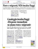 Rom e migranti,M5S incalza la Raggi