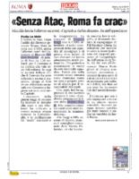 Senza Atac Roma fa crac