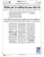 Multe per 23 Milioni in una sola via