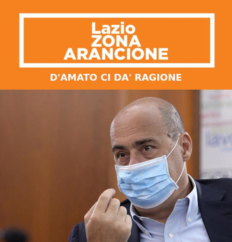 D'Amato su zona arancione Lazio ci dà ragione