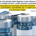 Vaccini: stop annunci, D'Amato garantisca richiami.